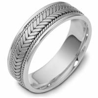 Item # 114301PP - Platinum Hand Made Wedding Band