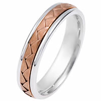 Item # 114341E - 18kt Hand Made Wedding Band