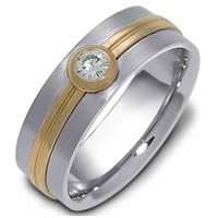 Item # 114681E - 14K Gold Diamond Wedding Ring