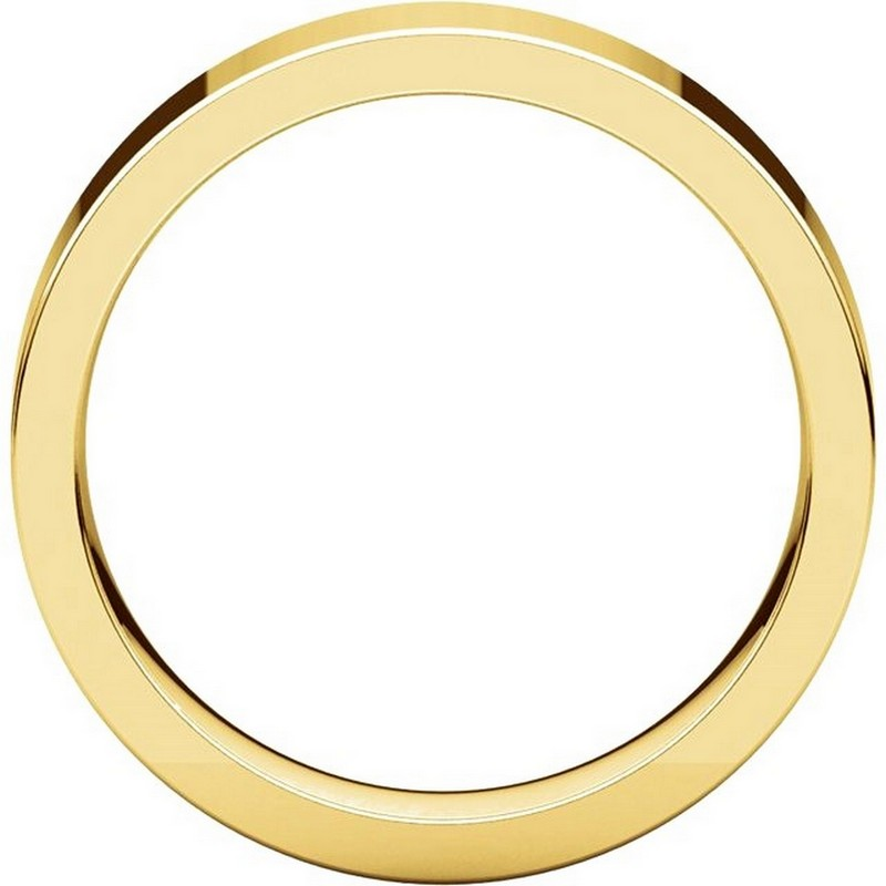 Item # 114751E View 2 - Gold Comfort fit 5mm Plain Wedding Band