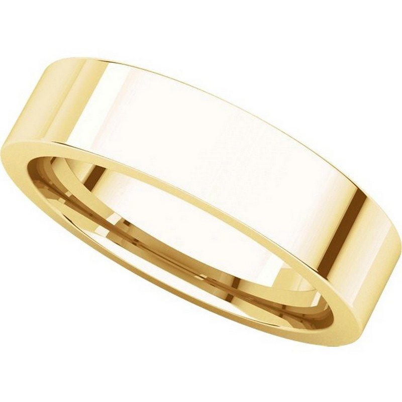 Item # 114751E View 4 - Gold Comfort fit 5mm Plain Wedding Band