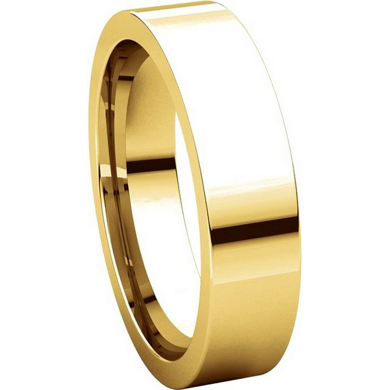 Item # 114751E View 5 - Gold Comfort fit 5mm Plain Wedding Band