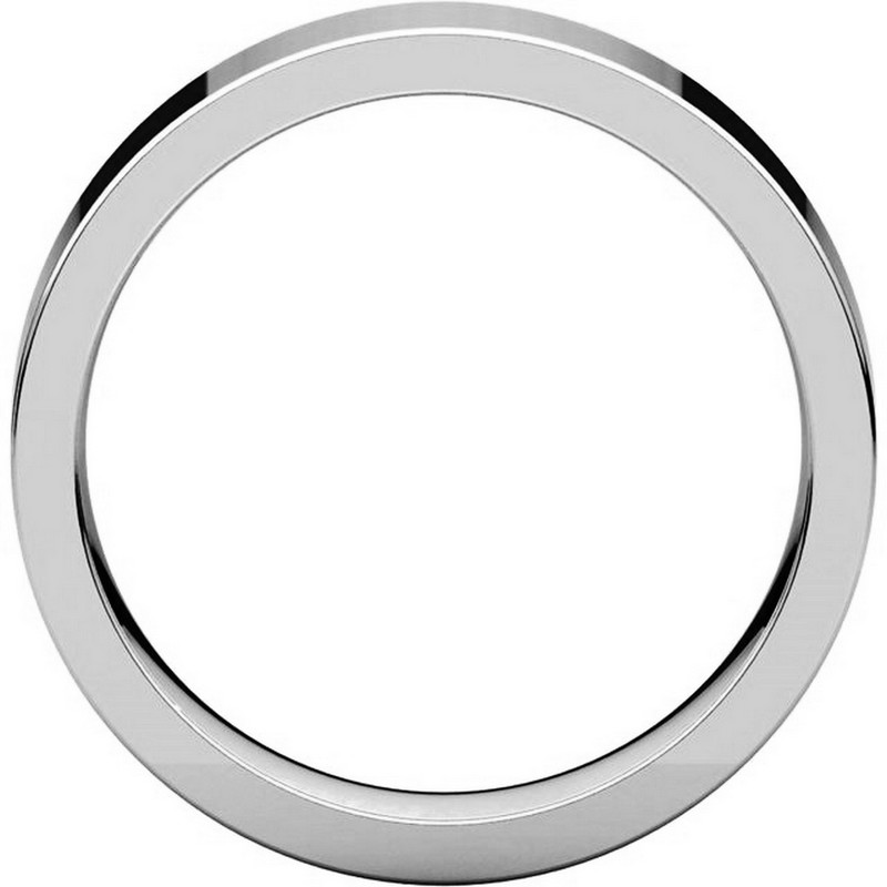 Item # 114751PP View 2 - Platinum Comfort fit 5mm Plain Wedding Band