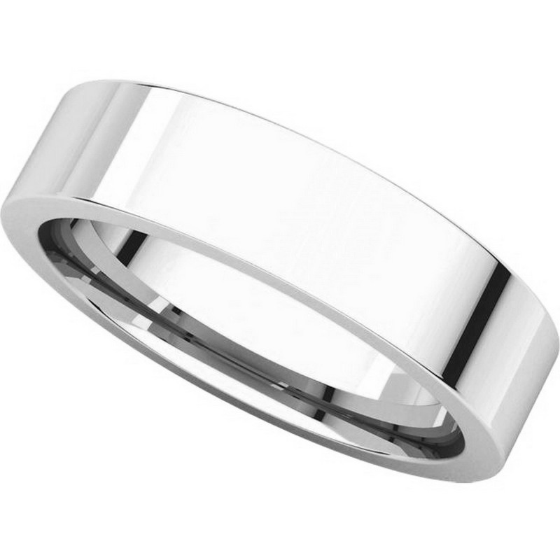 Item # 114751PP View 4 - Platinum Comfort fit 5mm Plain Wedding Band
