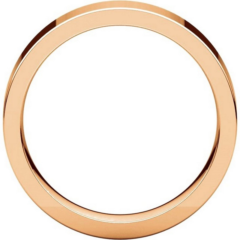 Item # 114751R View 2 - 14K Rose Gold Comfort fit 5mm Plain Wedding Band