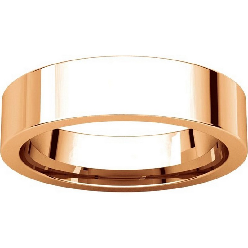 Item # 114751R View 3 - 14K Rose Gold Comfort fit 5mm Plain Wedding Band
