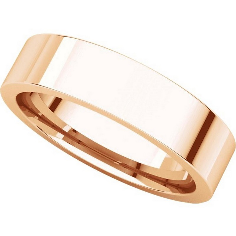 Item # 114751R View 4 - 14K Rose Gold Comfort fit 5mm Plain Wedding Band