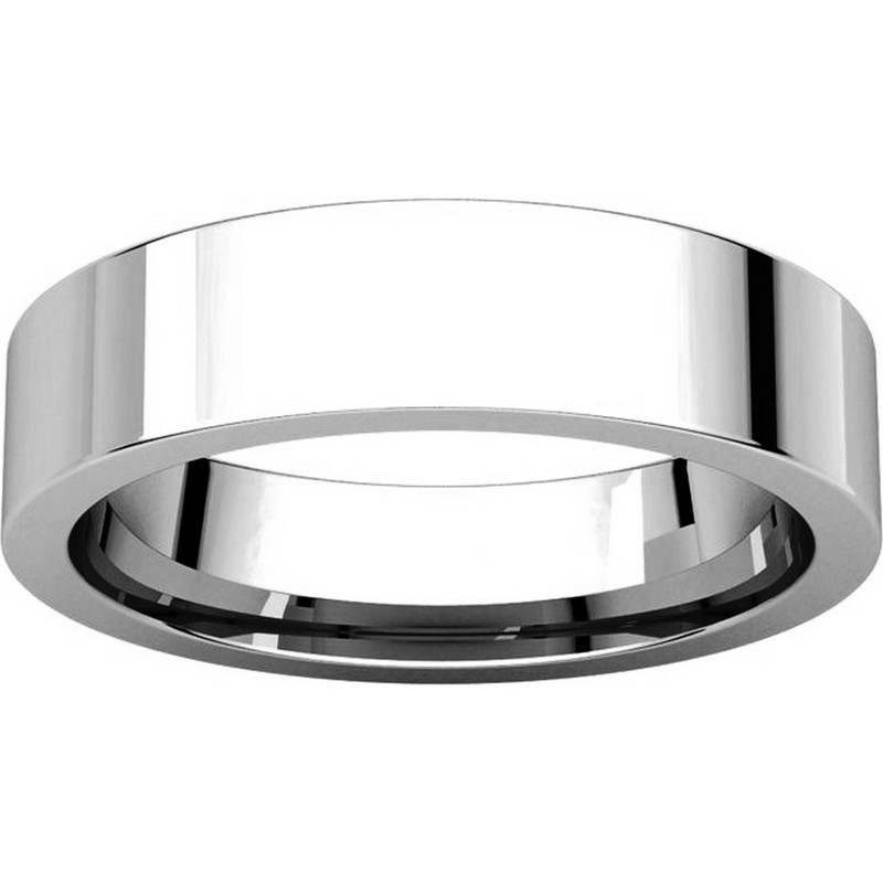 Item # 114751W View 3 - Flat Comfort fit 5mm Wide Wedding Band