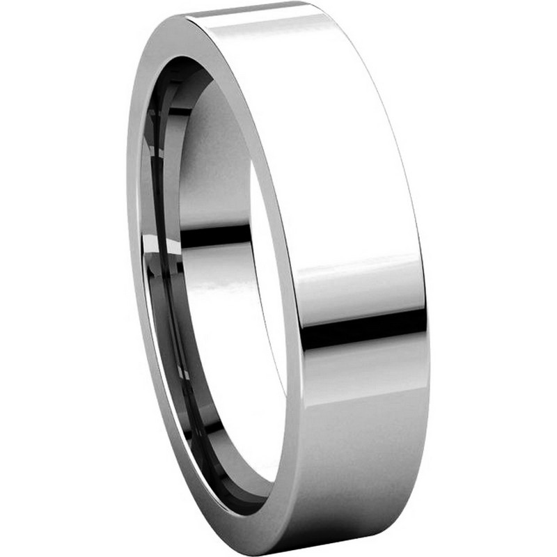 Item # 114751W View 5 - Flat Comfort fit 5mm Wide Wedding Band