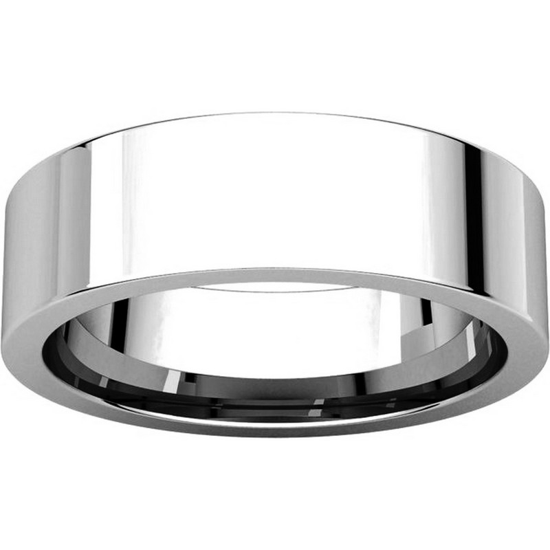 Item # 114761PP View 3 - Platinum Comfort fit  Plain Wedding Band