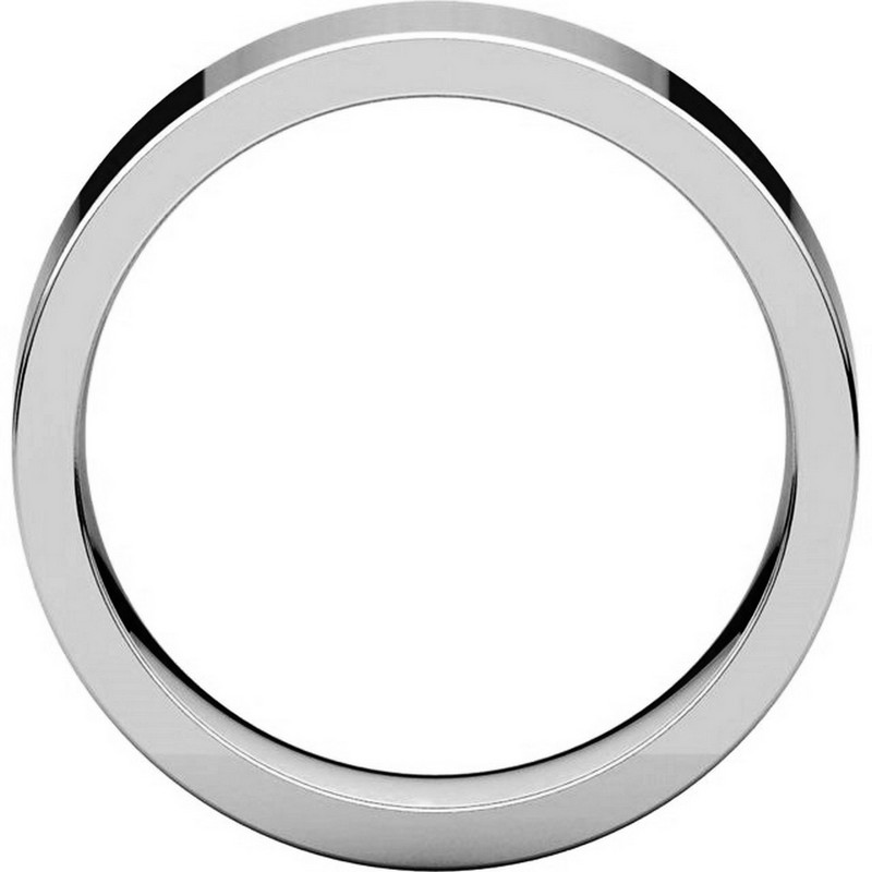 Item # 114761WE - White Gold Comfort fit Plain Ring View-2