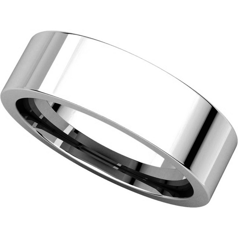 Item # 114761WE - White Gold Comfort fit Plain Ring View-4