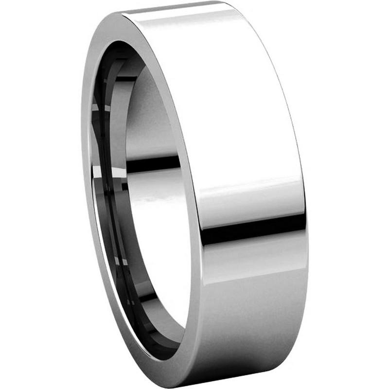 Item # 114761WE - White Gold Comfort fit Plain Ring View-5