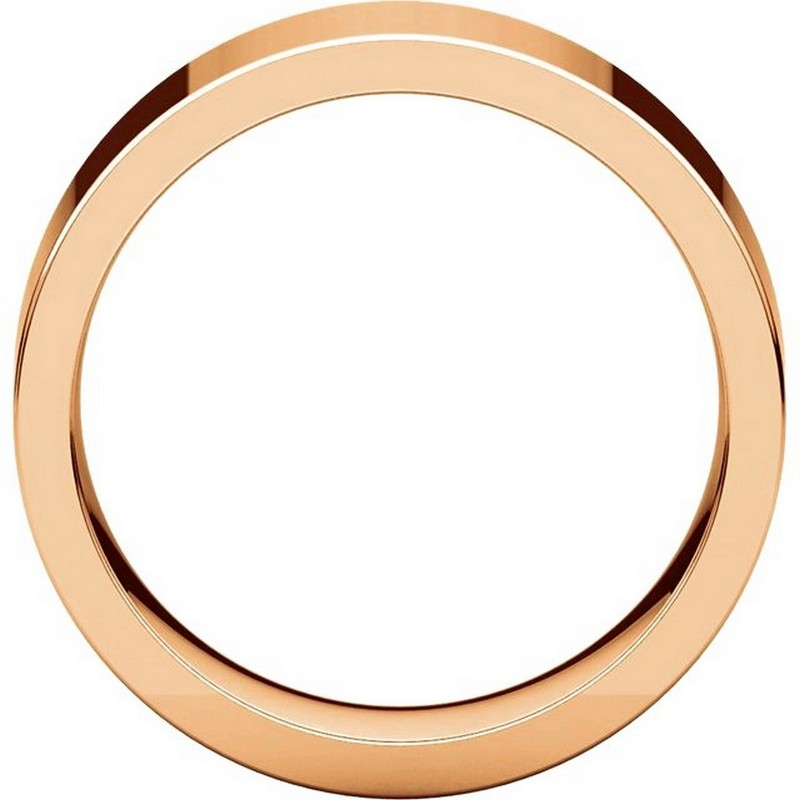 Item # 114771R View 2 - 14K Rose Flat 7mm Comfort Fit Plain Band