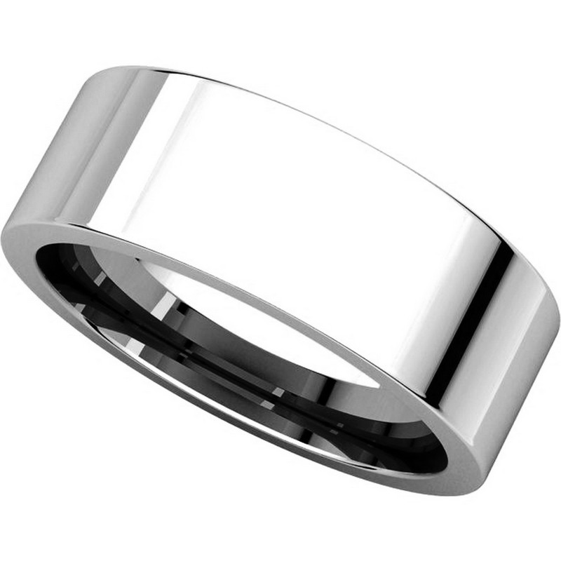 Item # 114771W View 4 - Flat 7mm Comfort Fit Plain Band