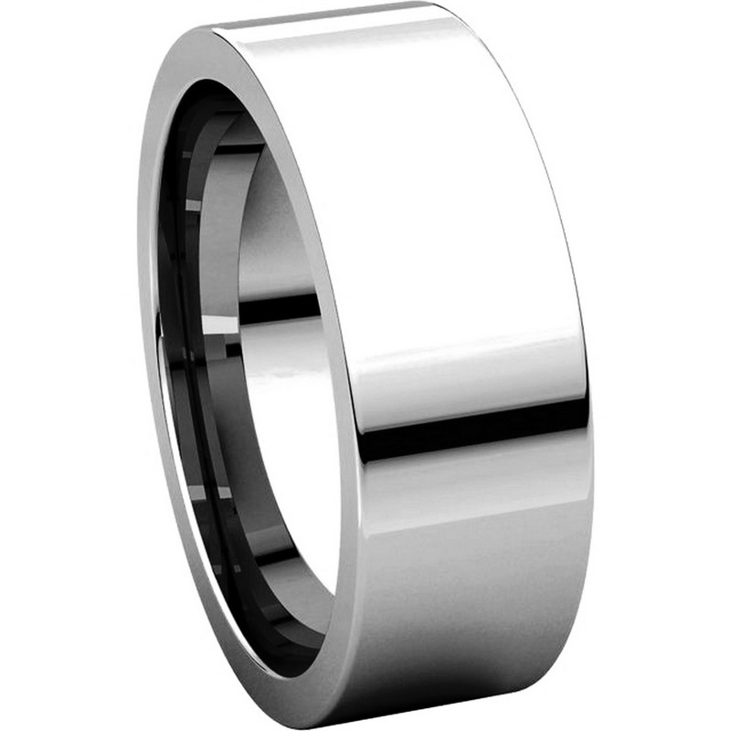Item # 114771W View 5 - Flat 7mm Comfort Fit Plain Band