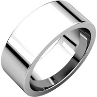 Flat Comfort Fit 8MM Wide Wedding Ring