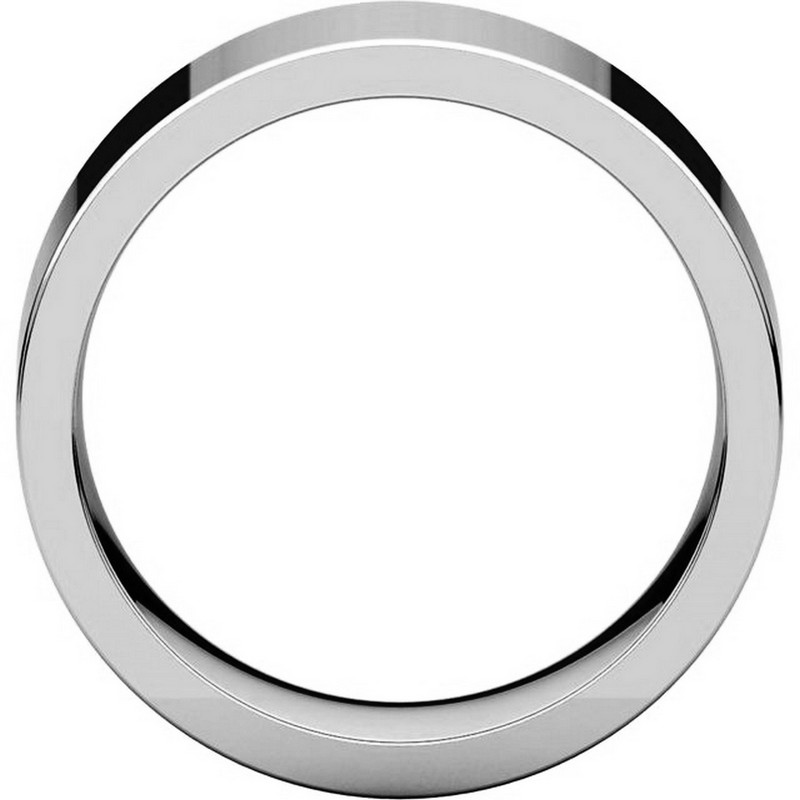 Item # 114781PP View 2 - Platinum Flat Comfort Fit 8MM Wedding Ring
