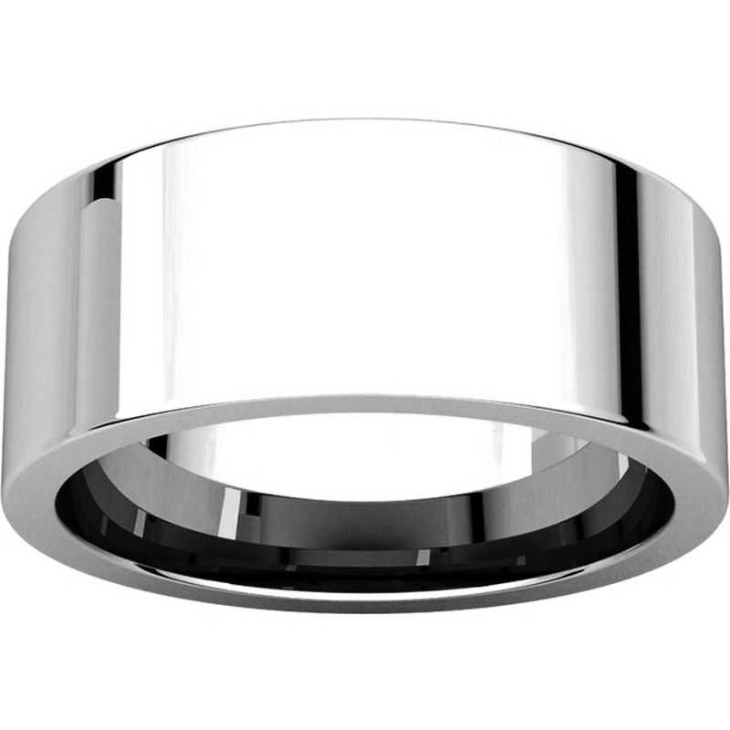 Item # 114781PP View 3 - Platinum Flat Comfort Fit 8MM Wedding Ring