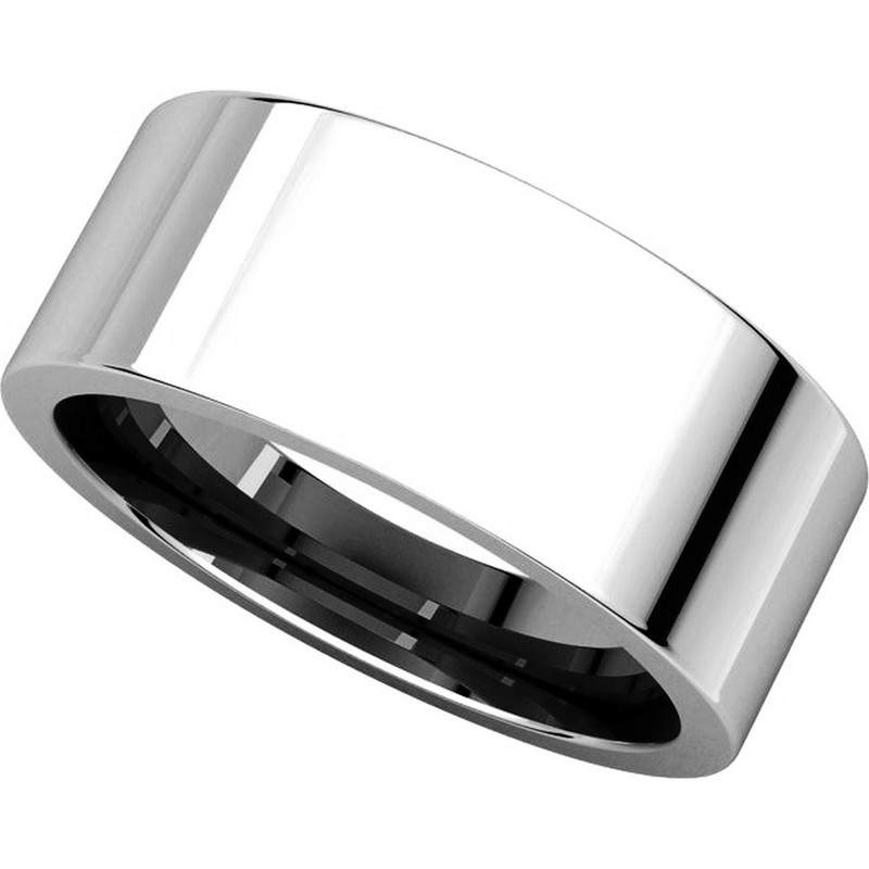 Item # 114781PP View 4 - Platinum Flat Comfort Fit 8MM Wedding Ring