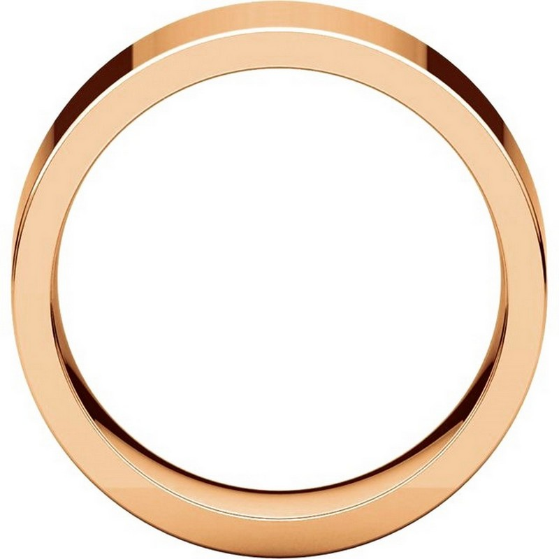 Item # 114781RE View 2 - 18K Rose Gold Comfort fit 8mm Plain Wedding Band