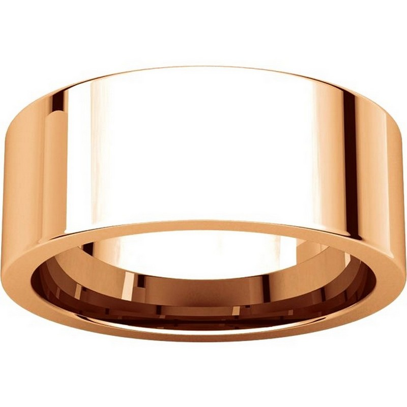 Item # 114781RE View 3 - 18K Rose Gold Comfort fit 8mm Plain Wedding Band