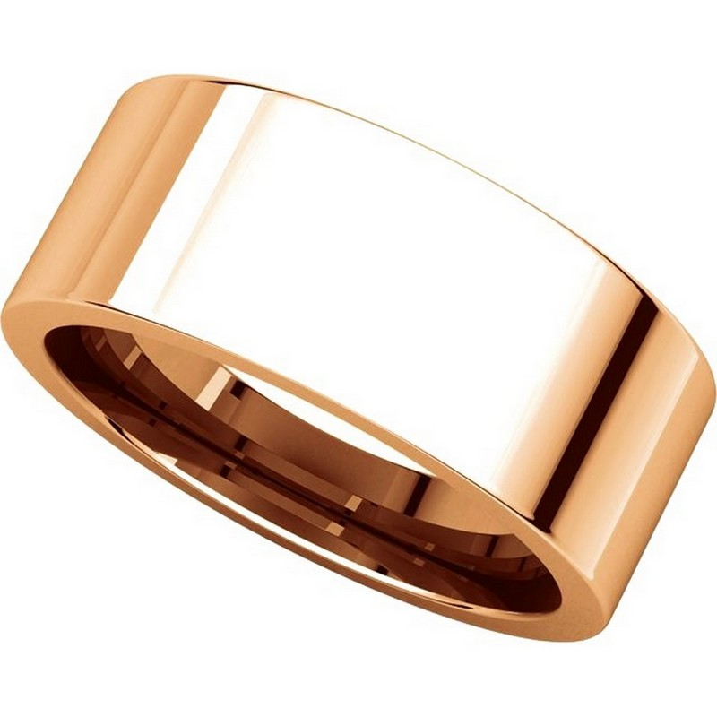 Item # 114781RE View 4 - 18K Rose Gold Comfort fit 8mm Plain Wedding Band