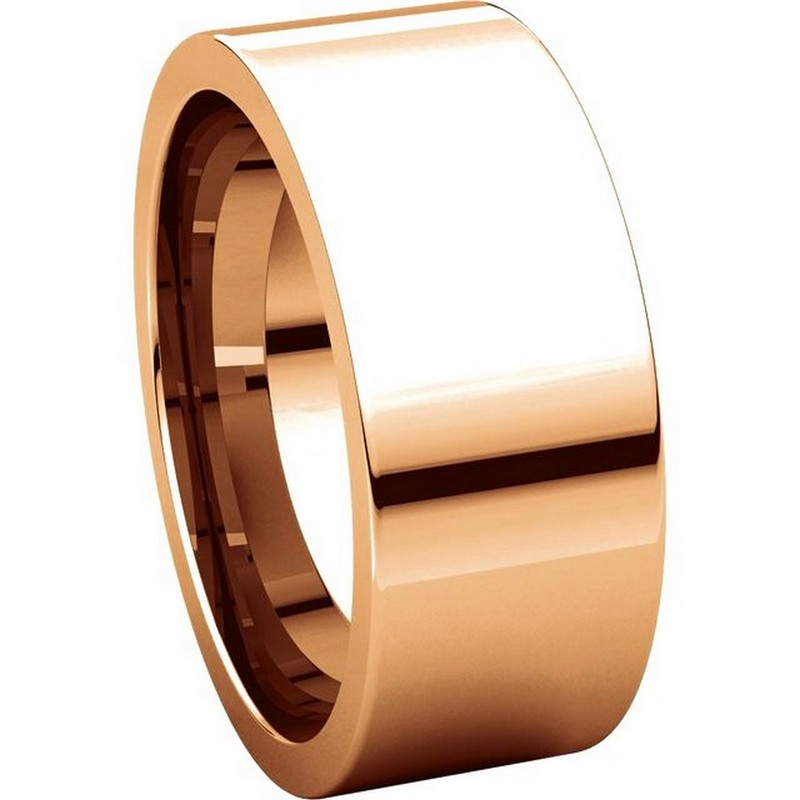 Item # 114781RE View 5 - 18K Rose Gold Comfort fit 8mm Plain Wedding Band