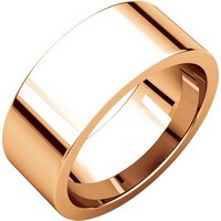 Item # 114781R - 14K Rose Gold Comfort fit 8mm Plain Wedding Band