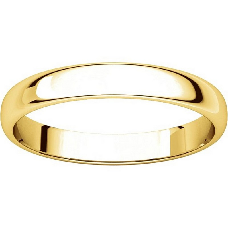 Item # 114851E View 3 - 18K Gold 3mm Wide Wedding Ring