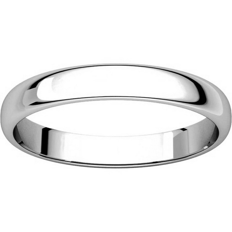 Item # 114851PP View 3 - Platinum 3.0mm Wide His and Hers Ring