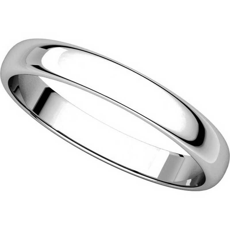 Item # 114851PP View 4 - Platinum 3.0mm Wide His and Hers Ring