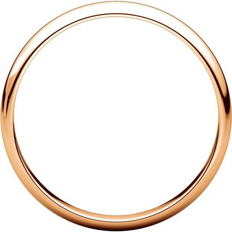 Item # 114851R View 2 - 14K Rose Gold 3mm Wide Wedding Ring