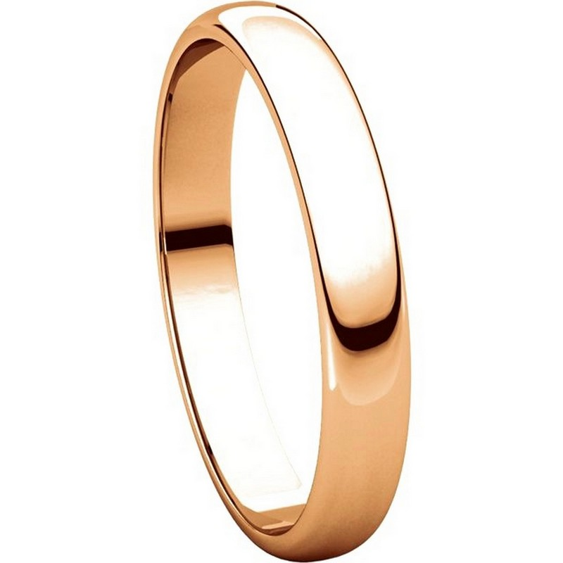 Item # 114851R View 5 - 14K Rose Gold 3mm Wide Wedding Ring