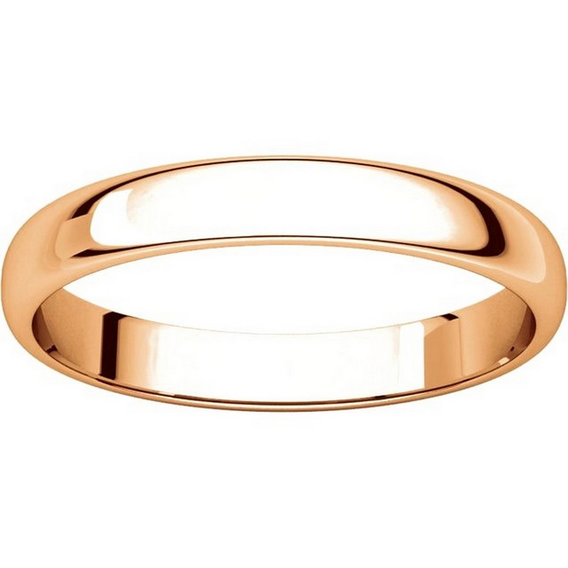 Item # 114851RE View 3 - 18K Rose Gold 3mm Wide Wedding Ring