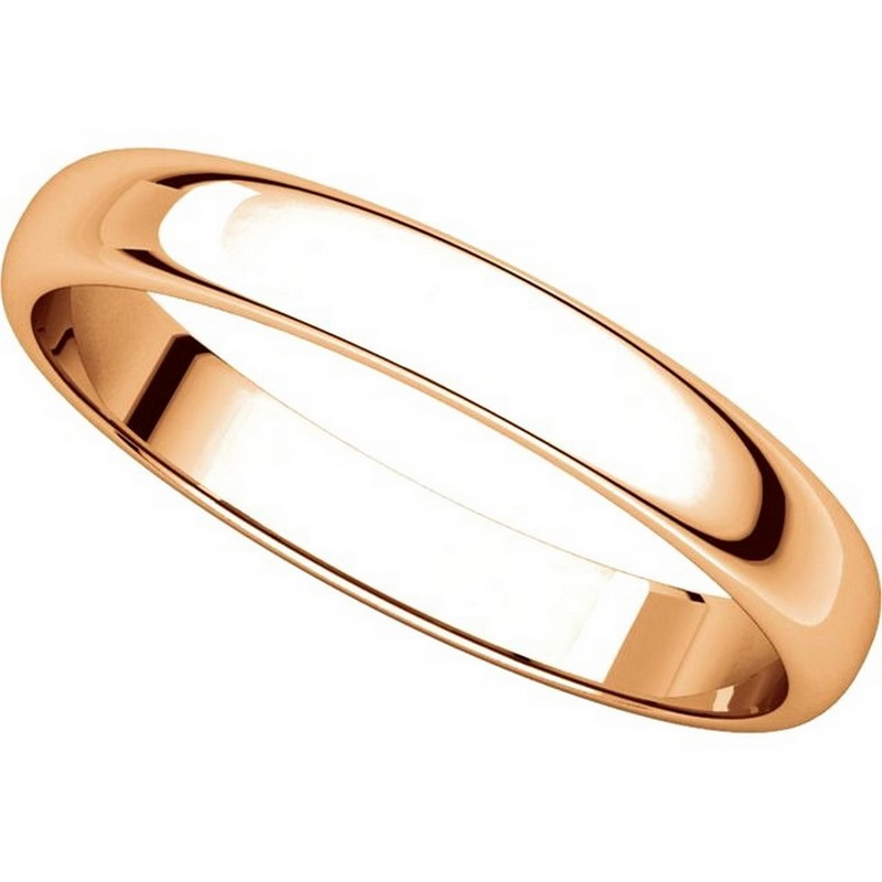 Item # 114851RE View 4 - 18K Rose Gold 3mm Wide Wedding Ring