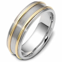 Item # 114861E - 18K Hand Made 7.0mm Wide, Comfort Fit Wedding Band