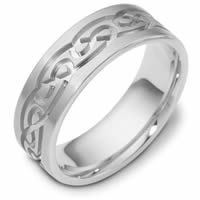 Item # 114881PD - Palladium 7.0mm Wide, Comfort Fit,Celtic Wedding Band