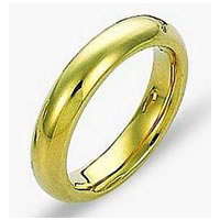 Item # 115011E - Yellow Gold 4.5mm Wide Comfort Fit Wedding Band