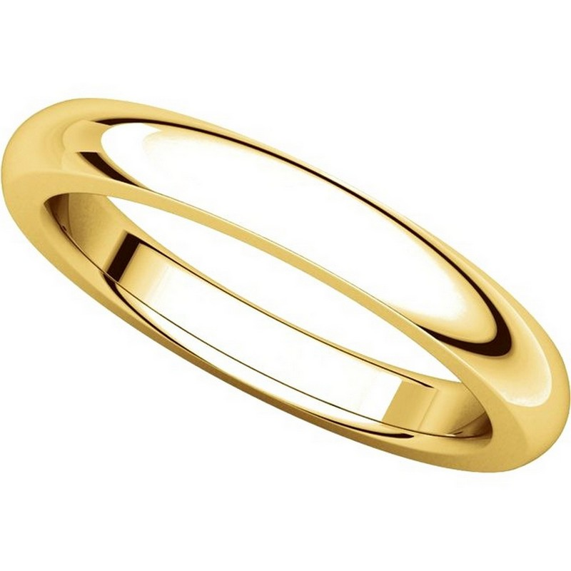 Item # 115031E - 18K Gold 4mm Wide Comfort Fit Wedding Band View-4