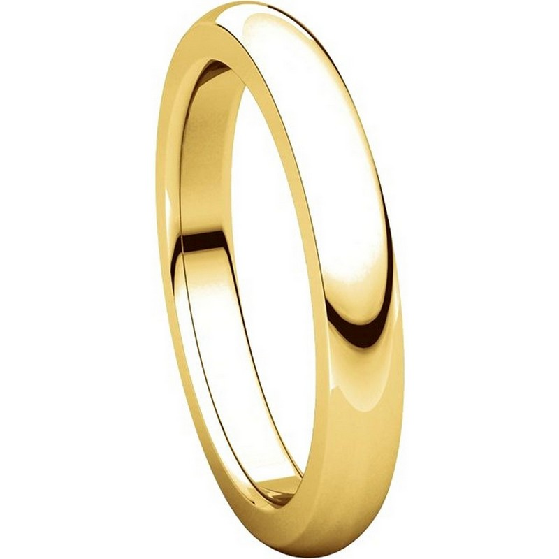 Item # 115031E - 18K Gold 4mm Wide Comfort Fit Wedding Band View-5