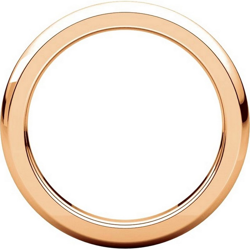 Item # 115031RE View 2 - 18K Rose Gold 4mm Wide Comfort Fit Wedding Band