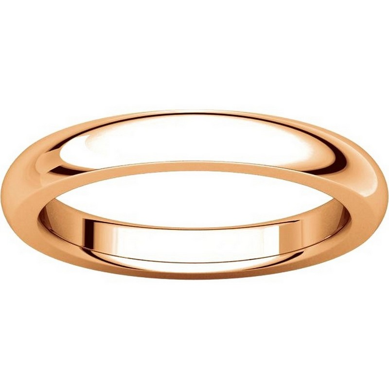 Item # 115031RE View 3 - 18K Rose Gold 4mm Wide Comfort Fit Wedding Band
