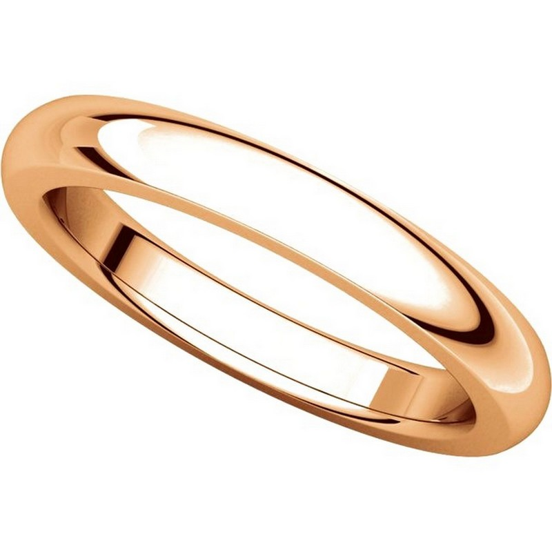 Item # 115031RE View 4 - 18K Rose Gold 4mm Wide Comfort Fit Wedding Band