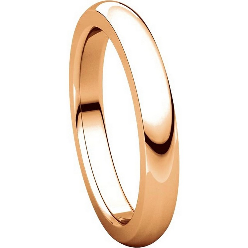 Item # 115031RE View 5 - 18K Rose Gold 4mm Wide Comfort Fit Wedding Band