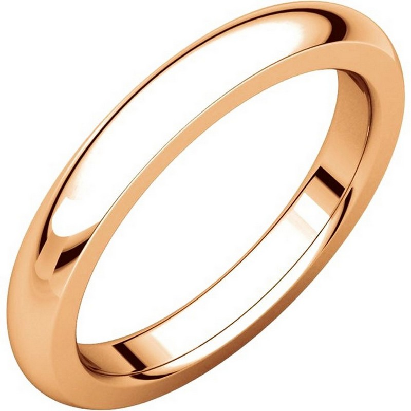Item # 115031RE - 18 kt Rose gold, comfort fit, 4.0 mm wide and 2.55 mm thick, heavy Wedding Band. The ring is completely polished. Different finishes may be selected or specified.