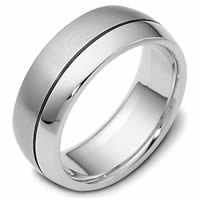 Platinum 8.0mm Wide, Comfort Fit Wedding Band