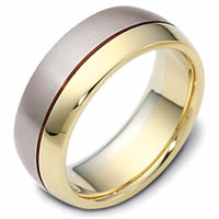 Two-Tone 8.0mm Wide, Comfort Fit Wedding Band