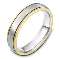 Gold Hand Made 5.0mm Wide, Comfort Fit Wedding Band