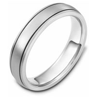 Item # 115091PP - Platinum hand made Comfort Fit Wedding Band
